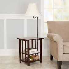 Swing Arm Curtain Rod Walmart by Better Homes And Gardens 3 Rack End Table Floor Lamp Espresso