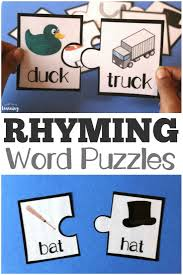 Printable Rhyming Literacy Puzzles | Retail | Pinterest | Rhyming ... Rhyming Words Flash Kids Cards Amazoncouk Frank Puzzles 40 Pieces Redlily That Rhyme With A Fun Preschool Game Videos Compilation 12 Cars Race And Battle On Obstacle Course Hal Leonard Pocket Dictionary Concise Userfriendly With Truck Farm English Rhymes Duck In The Truck By Jez Alborough Speech Language Book Mental Floss Storytown Grade 1 Skills Matrix Phonemic Awareness For Prek K Mrs Judy Araujo Reading Acvities Practice Materials Wonderful World Of