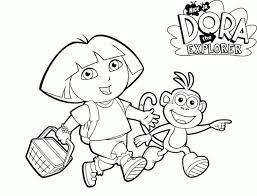 Online Dora The Explorer Coloring Pages