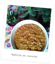 cuisine lentille dhal de lentilles au curry babille en cuisine