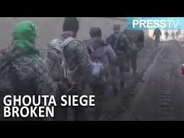 siege army syrian army breaks terrorists siege in eastern ghouta