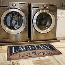 Amazon Ustide Wood Print Floor Rug for Laundry Room Cheap