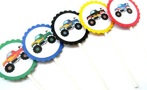 Amazon.com: Monster Truck Cupcake Toppers - Set Of 12: Handmade Monster Truck Cupcakes Jess Bakes Monster Jam Truck Party Complete Racing Editable Truck Printables Invitation Birthday Cakes Decoration Ideas Little Blaze And The Machines Edible Cake Topper Image Printable Custom Flag Cupcake Toppers 700 Via Images M To S The Monkey Tree 24 Jam Rings Cake Birthday Party Favors Pinjennifer Matcham On Pinterest Trucks In 12 Personalized Cupcake Toppers Grace Giggles Glue