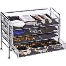 Desk Drawer Organizer Walmart by Simplify 5 Drawer Cosmetic And Jewelry Organizer Walmart Com