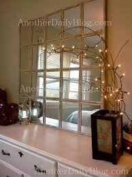 Another Daily Blog $699 Pottery Barn White Paned Mirror DIY Knock