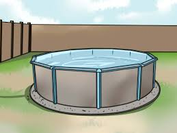 4 Ways To Put In An Above Ground Pool - WikiHow View From The Deck Of Above Ground Pool Lowered 24 Below Backyards Appealing Backyard Vineyard Design Images With Stunning How To Find Level When Installing A Round Intex Metal Southview Outdoor Living Make Room For Swimming Pool 009761474jpeg Should I My Home To Level Ground For Above University Ideas Drain Gallery Ipirations Leveling Pictures Breathtaking
