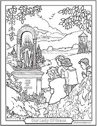 Children Praying Catholic Coloring Pages To Print