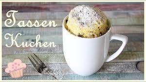 diy tassen kuchen mug cake aus der mikrowelle schnell und einfach backlounge rezept