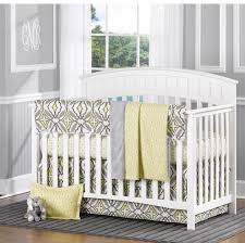 Liz & Roo Gray and Yellow Eden 4 Piece Baby Bedding Set