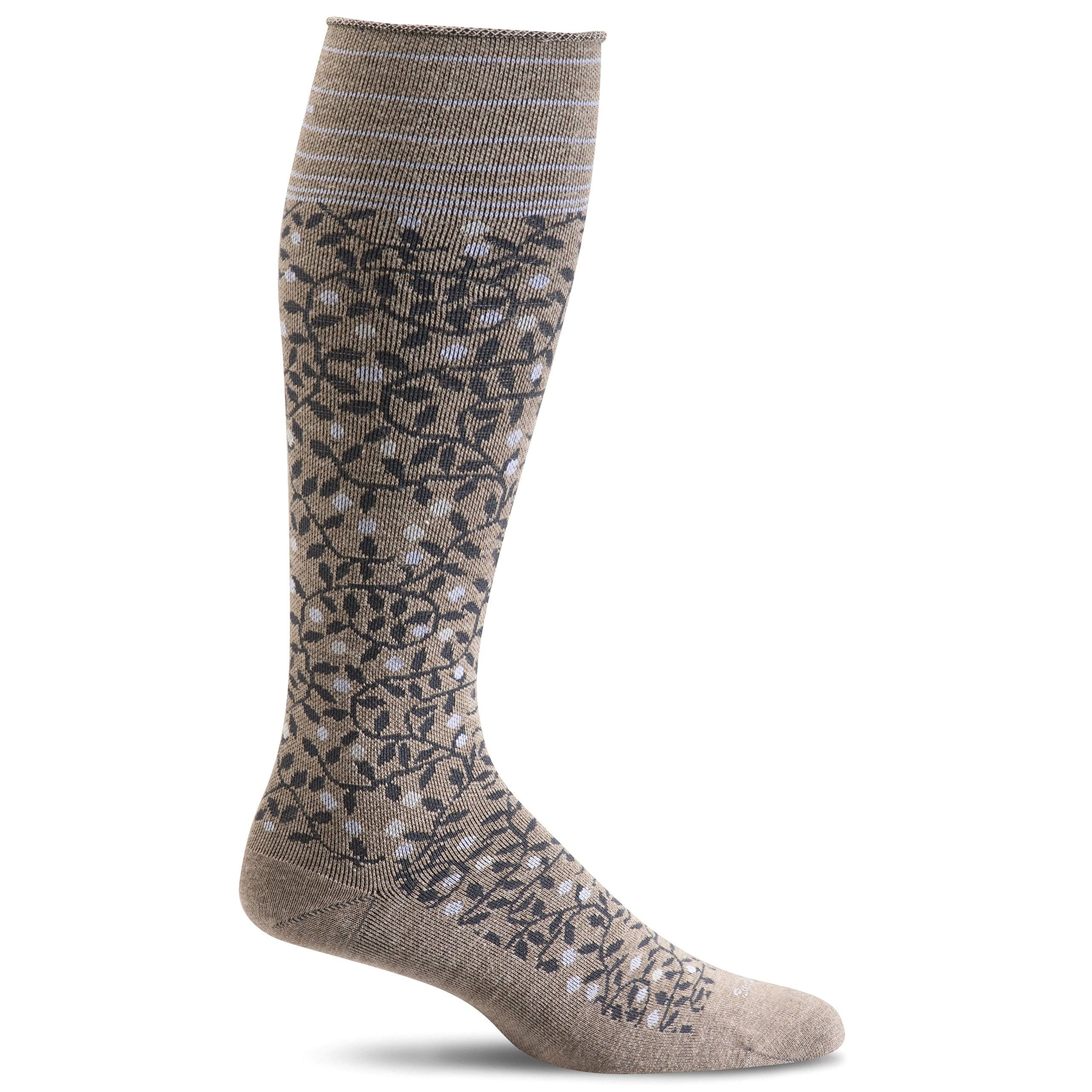 Sockwell Women's New Leaf Firm Compression Socks M/L / Khaki
