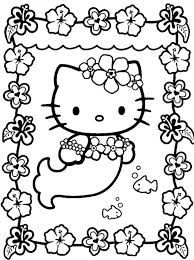 Baby Hello Kitty Coloring Pages Cat Pictures Cute Colouring Epic Mermaid In Free
