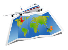 Travel Map Clipart 1