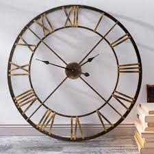 vintage wanduhr metall gross wanduhren wohnzimmer
