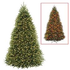 National Tree Company 9 Ft Dunhill Fir Artificial Christmas With Dual Color LED Lights