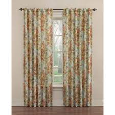 Kitchen Curtains Walmart Canada by Shop Waverly 84 In Vapor Cotton Back Tab Single Curtain Panel At