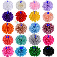 50PCS Assorted 2 5CM Handmade Artificial Fabric Flowers Folding For DIY Browbands Hair Craft Accessories 20 Colors In Ribbons From Home Garden