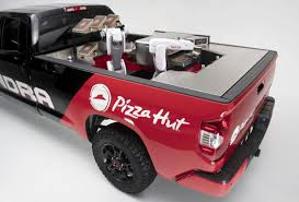100 Mobile Pizza Truck Hut Unveils Factory As The Food Delivery War