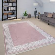 teppich wohnzimmer bordüre mäander design