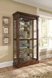 medallion cherry curio cabinet by pulaski furniture kitchens