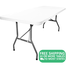 10-pack: Advantage 8' Plastic Folding Tables [ADV3096-WHITE-10] | 8 ... Lifetime 72 In Black Plastic Stackable Folding Banquet Table280350 Luan 18x72 6 Ft Seminar Wood Table Vinyl Edging Bolt Solid Trestle 8 Folding Chairs Set Best Price Barnsley Uk For Rent Portable 6ft Rattan Design Fniture Lerado 6ft Foldin Half Rect Table Raptor Almond Table22900 Home Depot Canada Tables 6ft And Chairs Lennov 18m Outdoor Camping With Ft Commercial Combo Youtube Exciting Cosco Interesting Tfh Gazebos And Chair Set Indoor Use