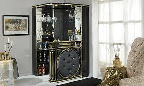 eck bar theke wohnzimmer bar ecoleder front schwarz