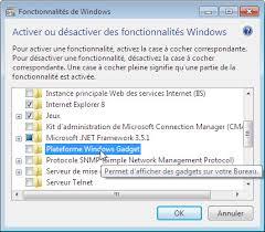 gadget de bureau windows 8 désactiver les gadgets du volet windows sous windows seven