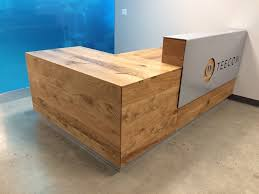 This Custom Reception Desk Was Made For A Sweet Office In Downtown Oakland Using Rustic Variety Of White Oak And Complimented With Powder Coated