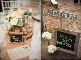 Wedding Decorations Amusing Simple Country Chalkboard