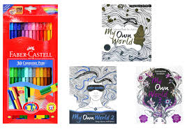 Marker Connector 155051a 30 Colour Faber Castell Coloring Book For Adults My Own World