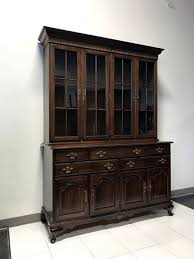 Corner China Cabinets Dining Room Sold Out Ethan Allen Cherry Cabinet Hutch Boyd S Fine