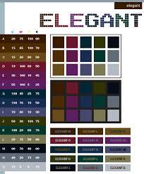 Elegant Color Schemes Combinations Palettes For