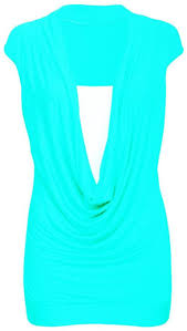 new ladies gathered cowl neck top women sleeveless long vest top