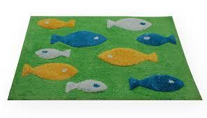 haus und deko badezimmer teppich eckig fisch duschvorleger