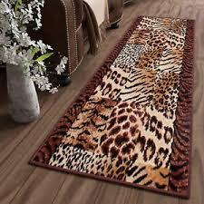 details zu teppich läufer meterware flur leopard schlafzimmer wohnzimmer ökotex streifen