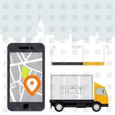100 Gps Systems For Trucks Dlivery Of Cargo Mobile Gps Navigation Stock Vector Image