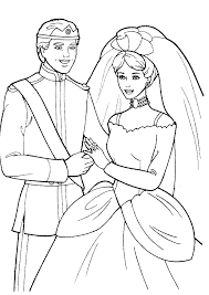 Barbie Wedding Coloring Pages 5736 Disney Book Res