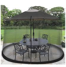 Mosquito Netting For Patio Umbrella Black by Bug Net Ebay