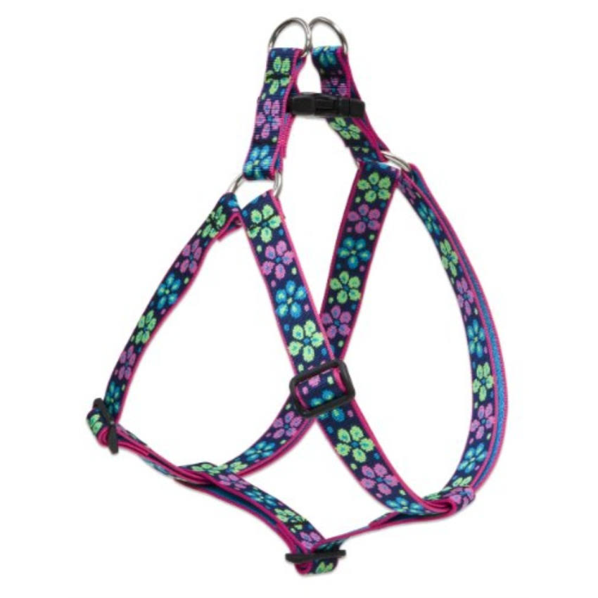 "Lupine Pet Originals Flower Power Step In Dog Harness - 1"" x 24""-38"""