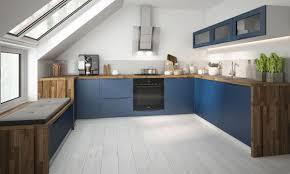 u form küchenzeile napoli küchenblock 210x330x210cm grifflos weiß front violettblau matt