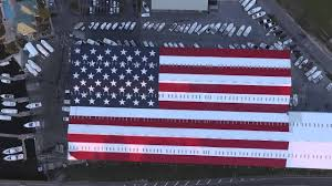 GIANT American Flag Roof