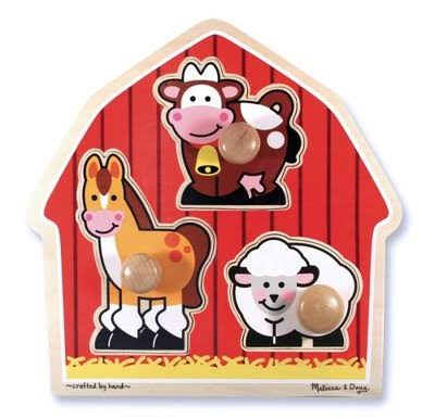 Melissa & Doug Barnyard Animals Peg Puzzle