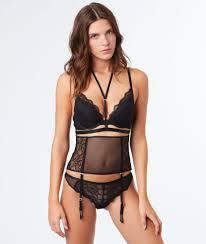 bas pour porte jarretelle etam ensemble flirt avec serre taille noir etam