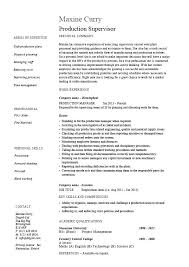 Manufacturing Project Manager Resume Sample Samples Job Production Supervisor