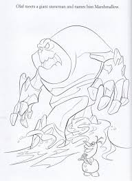 Snow Monster Frozen Coloring Pages Official