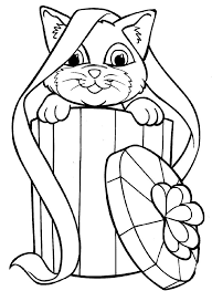 Colouring Pages Art Exhibition Kitty Cat Coloring
