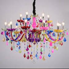 Online Shop Modern Chandeliers LED Crystal Lighting Bohemia Colorful Chandelier Lustres De Cristal Decorative Lamps Pendant Lamp