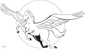Pegasus Coloring Pages Galaxy Free Printable