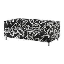 klippan two seat sofa avsiktlig white black ikea