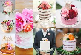 Single Tier Cakes With Flowers On Top