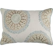 glacier bay medallion blue lumbar pillow pier 1 imports